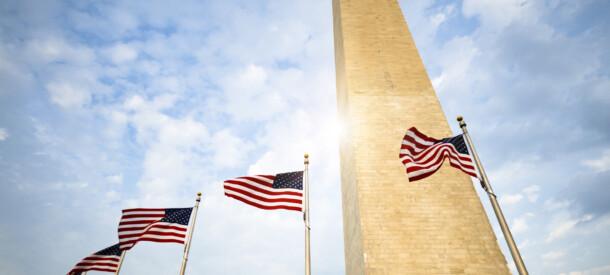 Billede af amerikanske falg