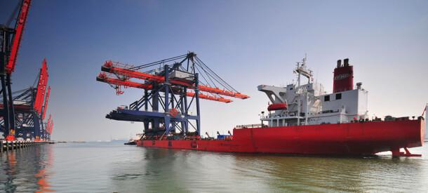 Billede af skib og shipping