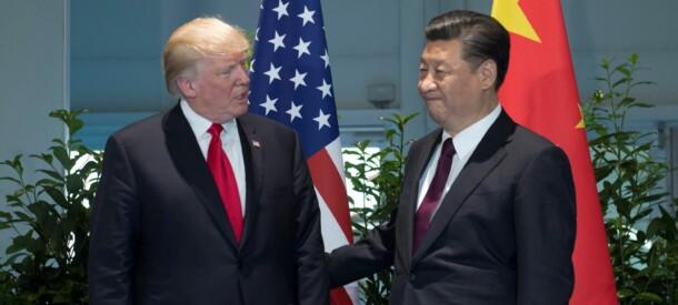 Billede af Trump og Jinping