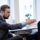 Daniel Daugaard i undervisningssituation