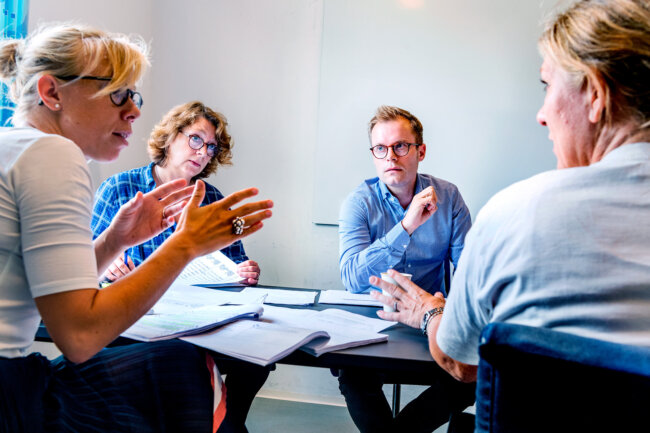 Billede af gruppearbejde på et kursus hos CBS Executive