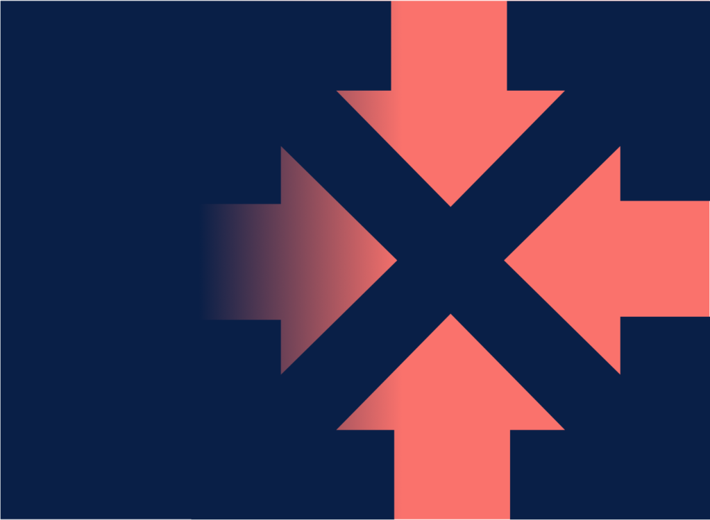 Billedeikon af illustration af fire pile der danner et kryds